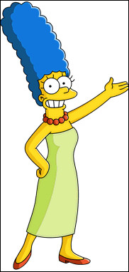 Marge a les cheveux bleus, mais a-t-elle un jour eu les cheveux gris ?