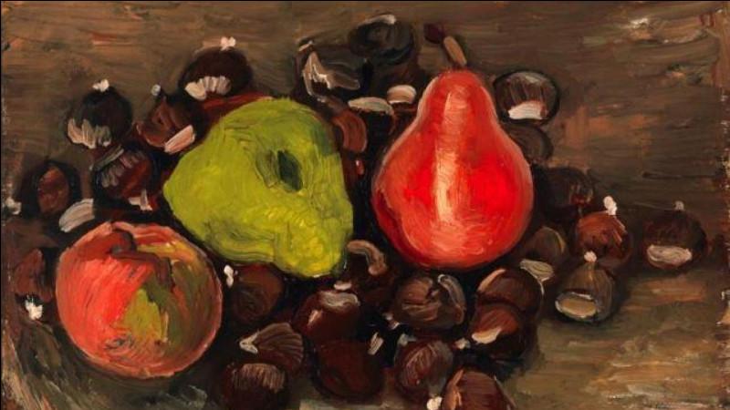 """À qui est attribuée la toile """"Nature morte avec des fruits et châtaignes"""" ?"""