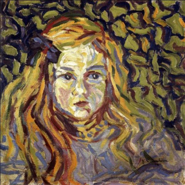 """Qui a fait ce portrait d'enfant intitulé """"Petite blonde au ruban"""" ?"""