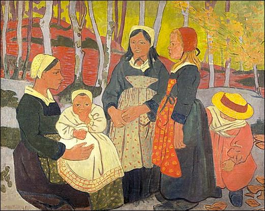 """Qui a représenté ces """"Bretonnes dans la forêt du Huelgoat"""" ?"""