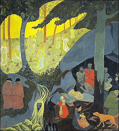 """Quel peintre ayant beaucoup représenté la Bretagne et dont grand nombre de ses œuvres sont exposées au musées des Beaux-Arts de Brest, a peint """"Conte celtique"""" ?"""