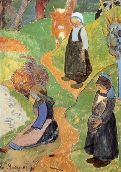 Quel peintre ayant été le chef de file de l'école de Pont-Aven, et ayant vécu aux îles Marquises, fut le précurseur du mouvement nabi ?