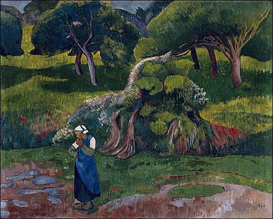 """Quel artiste connu pour sa toile """"Le Talisman"""" a réprésenté ce """"Paysage au Pouldu"""" ?"""