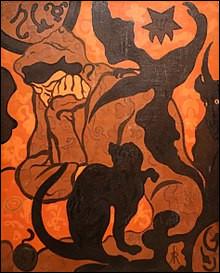 """Lequel de ces nabis, fortement intéressé par le spiritisme, la magie et l'occultisme a réalisé la toile """"La Sorcière au chat noir"""" ?"""