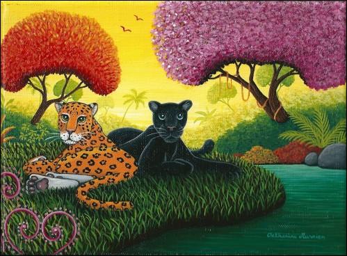 """Qui a peint ce """"Duo de panthères"""" ?"""