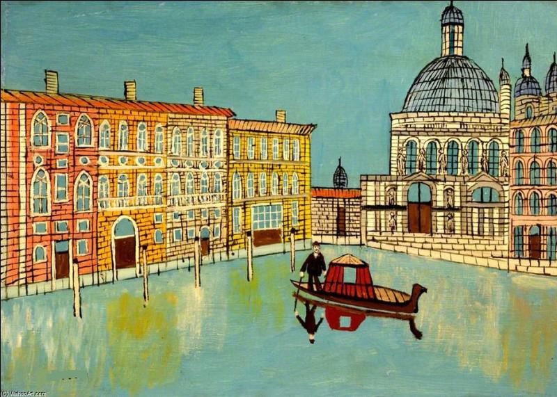 """Qui a peint """"Venise, canal et une église"""" ?"""