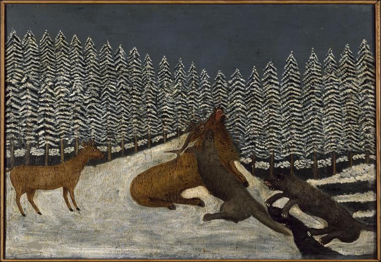 """Qui est le peintre du tableau """"Le Loup et les Cerfs"""" ?"""