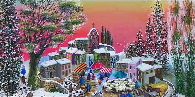 À qui est ce joli tableau très coloré ?