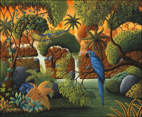 """À qui appartient la toile magnifique représentant """"Le Perroquet bleu"""" ?"""