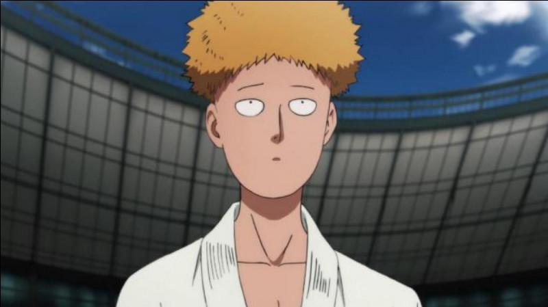 Sous quel nom d'école Saitama se présente-t-il au Super Fight ?