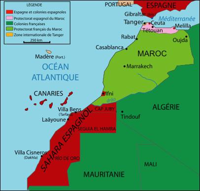 Auparavant, après avoir réglé ses problèmes intérieurs, l'Espagne a de nouveaux rêves coloniaux dans la deuxième moitié du 19e siècle. Ils sont dirigés vers la côte atlantique de l'Afrique et plus précisément