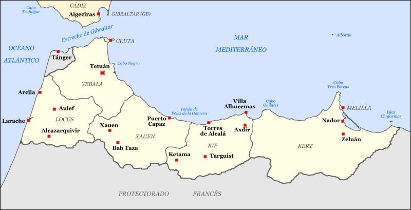 En 1912, avec quel pays d'Europe continentale l'Espagne se partage-t-elle le protectorat sur le Maroc?