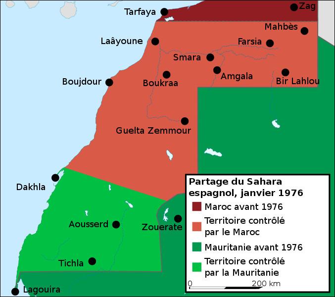 Les possessions espagnoles d'Afrique n'échappent pas au mouvement de décolonisation après la Seconde Guerre mondiale. En 1975, le Sahara espagnol (ex-Río de Oro) est cédé à deux des pays frontaliers. De quels pays s'agit-il?