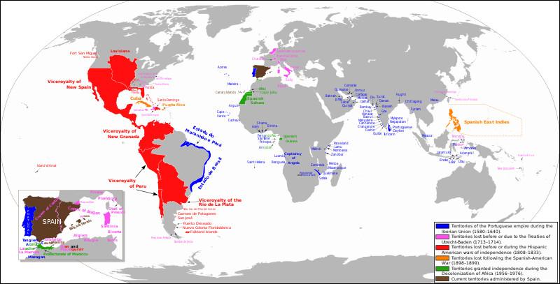 De 1580 à 1640, le roi d'Espagne est aussi le souverain d'un des pays européens frontaliers de l'Espagne. Quel est ce pays?