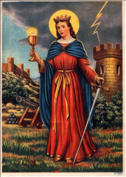 Quelle vierge et martyre est la sainte patronne des pompiers ?