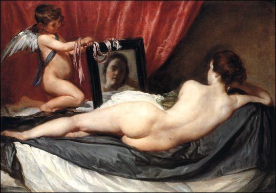 """A quel peintre doit-on cette toile intitulée """"Vénus au miroir"""", en 1631 ?"""