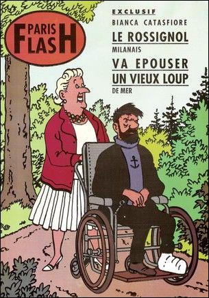 Le magazine Paris-Flash annonce que le capitaine Haddock est fiancé. À qui ?