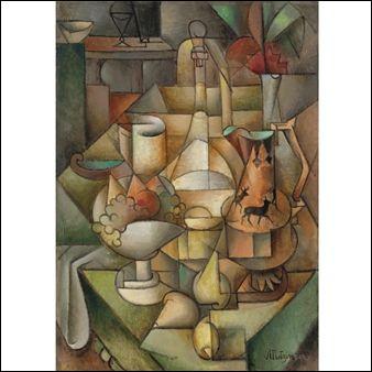 """Qui a réalisé l'œuvre intitulée """"Compotier et cruche décorés de cerfs"""" ?"""