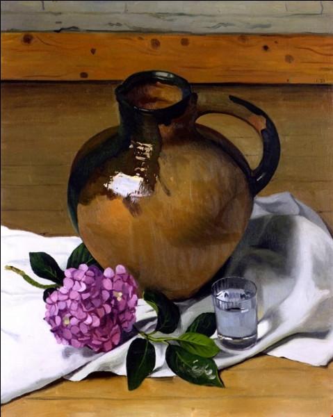 "Qui a peint ""Cruche et hortensias"" ?"
