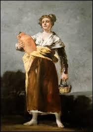 """Elle tient sa cruche ! C'est """"La Porteuse d'eau"""" de l'artiste :"""