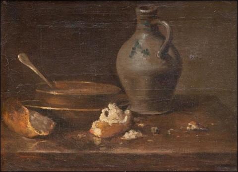 """Qui a peint """"Nature morte à l'écuelle, au pain et à la cruche"""" ?"""