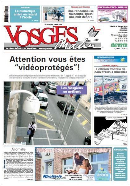 Un habitant d'Epinal s'est ému que sa photo ait été publiée à la une de Vosges Matin pour illustrer un sujet sur la vidéo-protection. Pourquoi ?