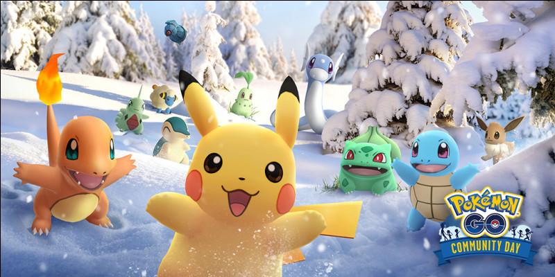 Quels sont les Pokémon de la photo qui sont faibles à la saison ! (hiver donc type glace)
