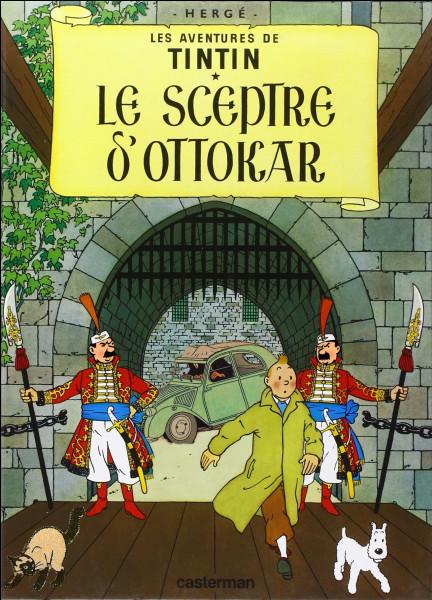 De nouveau, trois anomalies sont à déceler par rapport à la couverture originale du « Sceptre d'Ottokar ». Retrouver lesquelles parmi les 5 proposées !