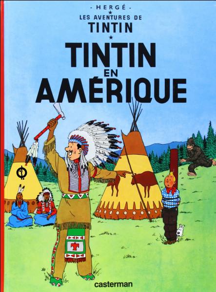 La couverture de « Tintin en Amérique » a subi quelques modifications (3) : à vous de voir lesquelles !