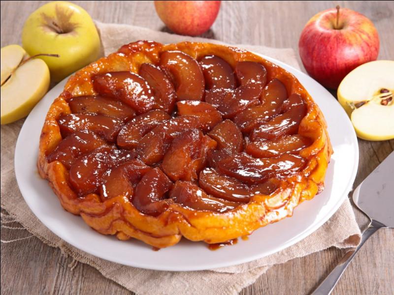 Lequel de ces termes a un lien direct avec la particularité de la tarte Tartin, une tarte aux pommes renversée ?