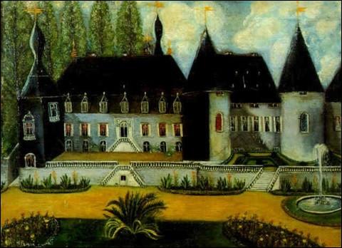 """Sa toile s'appelle """"Vue d'un château"""" :"""