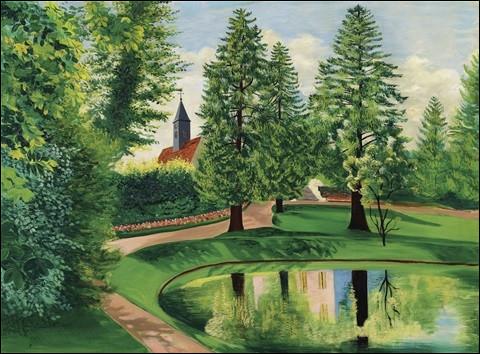 """Qui a peint """"Le Parc et le bassin du château de Gressy"""" ?"""