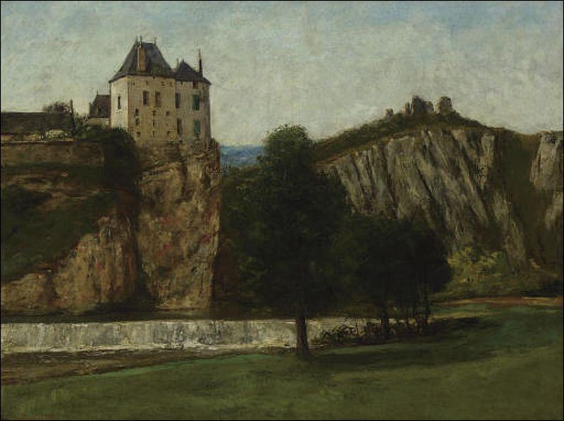 Voici le château de Thoraise représenté par l'artiste :