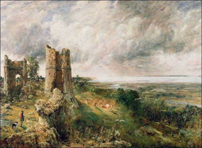 Par qui le château de Hadleigh a-t-il été représenté ?