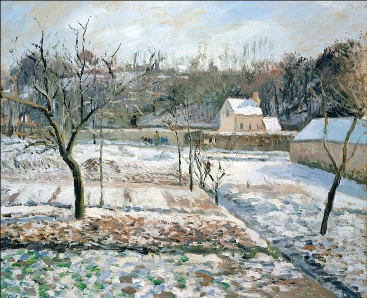 """""""Jardin enneigé, Pontoise"""" est l'œuvre de quel peintre ?"""