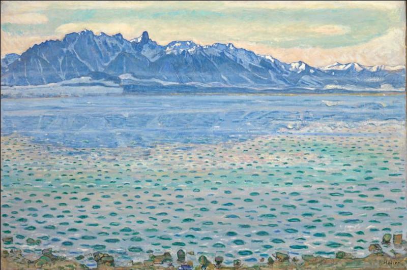 """Qui est l'auteur du tableau """"Le Lac de Thoune"""" ?"""