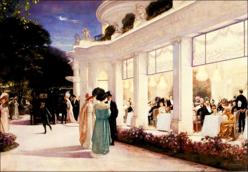 """Qui a réalisé le tableau """"Une soirée au Pré-Catelan"""" ?"""