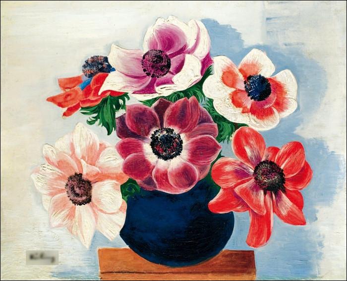 """Qui a réalisé le tableau """"Bouquet d'anémones"""" ?"""