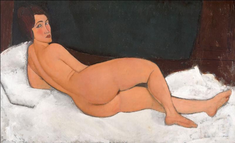 """Ce tableau est un """"Nu couché"""", vendu 179, 44 M$, par la salle de ventes Sotheby's. On n'en connaît pas l'acquéreur, car Sotheby's s'est refusé à tout commentaire sur son identité. Qui en est le peintre ?"""