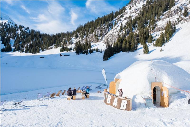 Cette montagne est dans la cour arrière de Thoune : le point de départ de notre aventure est de prendre la télécabine dans les magnifiques Alpes de Berne. Le village est situé à 1600 m.Quel est le nom de ce magnifique village installé dans ce paysage hivernal blanc où vous pourrez également déguster des boissons et de la fondue raffinée ?
