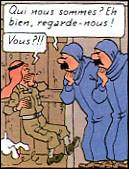 C'est la seule fois où Tintin ne reconnaît pas les Dupondt, lesquels sont déguisés en femmes. Que veut dire le mot « hidjab » et de quel album s'agit-il ?