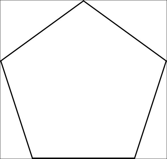Le périmètre d'un pentagone régulier est de 55 cm. Quelle est la longueur d'un côté ?