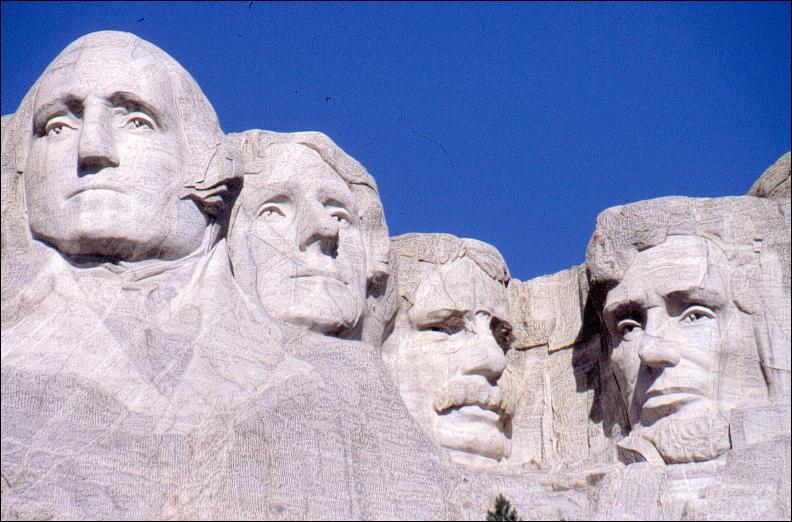 Quel président n'est pas représenté sur le Mont Rushmore ?