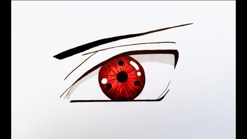 Comment appelle-t-on ce type d'œil ? (Kakashi en possède un.)
