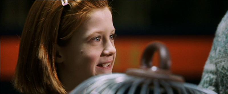 Quelle est la seule et unique phrase que Bonnie Wright (Ginny) prononce dans le film ?