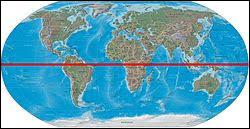 Comment s'appelle la ligne imaginaire qui sépare le globe en deux parties ?