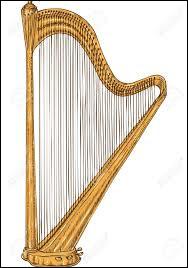 Instrument de musique à cordes pincées de forme le plus souvent triangulaire, muni de cordes tendues de longueurs variables dont les plus courtes donnent les notes les plus aiguës.