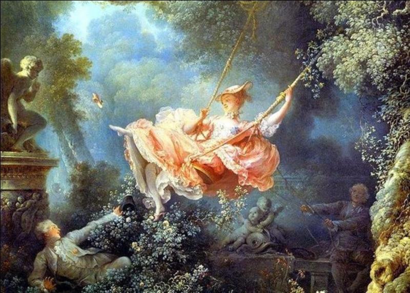 Qui a peint ce tableau, intitulé ''Les Hasards heureux de l'escarpolette'' ?