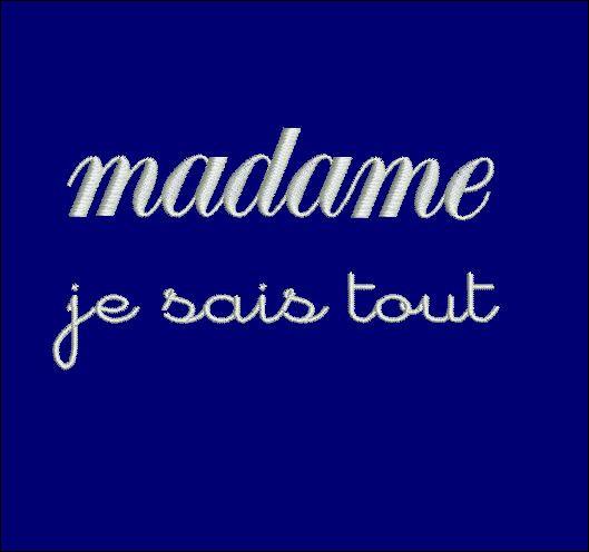 """En attendant je fais un peu de shopping à Paris. J'ai acheté un excellent parfum d'Hermès, il s'agit de """"L'Interdit"""", murmure Madame Je-Sais-Tout !"""