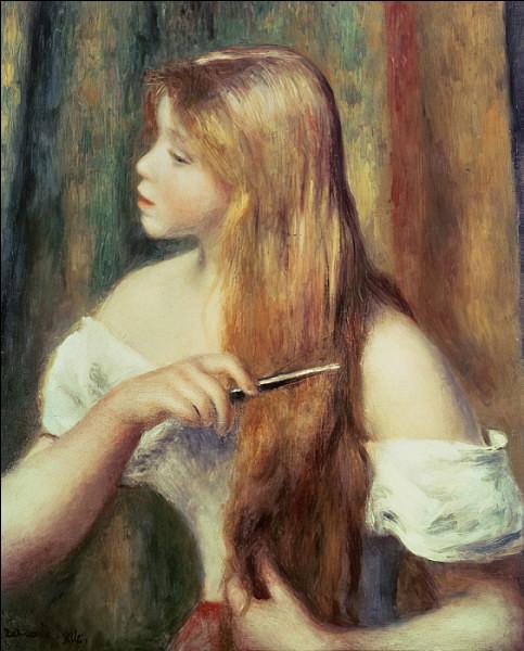 """Qui a représenté, sur cette toile, """"Une blonde coiffant ses cheveux"""" ?"""